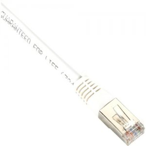 Black Box Cat5e 350-MHz, Shielded, Solid Backbone Cable (FTP), PVC, White, 15-ft. (4.5-m) EVNSL0505MS-0015