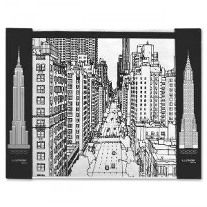 Aurora Illustrator Jr DeskPad Cityscape 16124 AUA16124