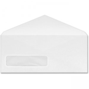 Business Source No. 10 V-Flap Window Envelopes 99716 BSN99716