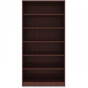 Lorell Mahogany Laminate Bookcase 99790 LLR99790