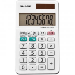 Sharp Calculators Sharp 8-Digit Pocket Calculator EL244WB SHREL244WB