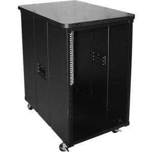 Claytek 10U 450mm Depth Simple Server Rack with Wood Top WD-1045-WT