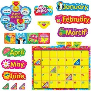 TREND WipeOff Stars/Swirls Calendar Bulletin Brd Set 8320 TEP8320