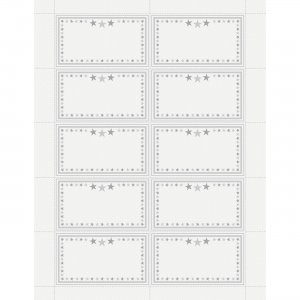 Geographics Star Border Recognition Cards 48674 GEO48674