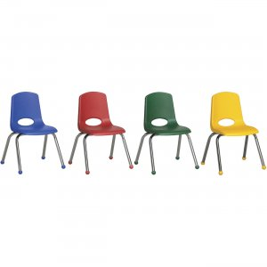 """ECR4KIDS 10"""" Stack Chair with Matching Legs, 6 Piece - AS ELR-15141-AS ECR15141AS"""
