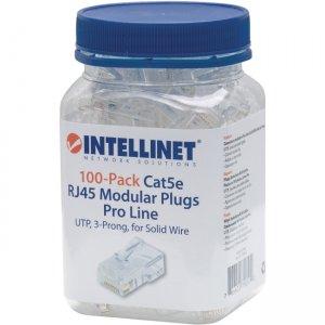 Intellinet 100-Pack Cat5e RJ45 Modular Plugs Pro Line 790512