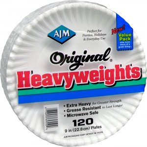 AJM Packaging Original Heavyweights Plates OH9AJBXWH AJMOH9AJBXWH