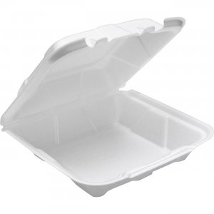 Pactiv 2-tab HL Conventional Foam Container YTD18801 PCTYTD18801