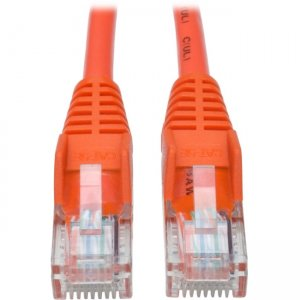 Tripp Lite Cat5e 350 MHz Snagless Molded UTP Patch Cable (RJ45 M/M), Orange, 14 ft N001-014-OR