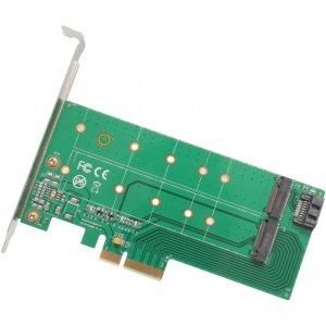 IO Crest PCI-Express 2.0 x4, 1x M.2 M-Key and 1x M.2 B-Key Card SI