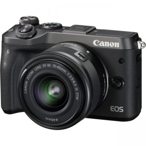 Canon EOS Mirrorless Camera with Lens 1724C011 M6