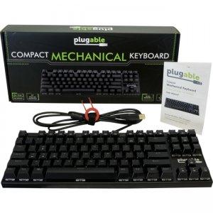 Plugable Compact 87-Key Mechanical Keyboard USB-MECH87BW