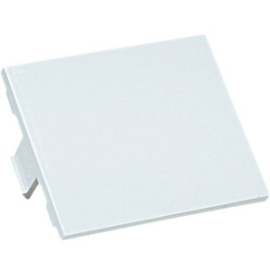 Panduit 1/2-size blank insert. Reserves space for future upgrades, White CHB2WH-X