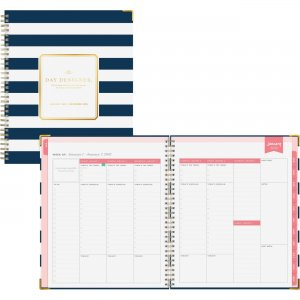 Blue Sky 8x10 Navy Stripe Weekly/Monthly Planner 103625 BLS103625