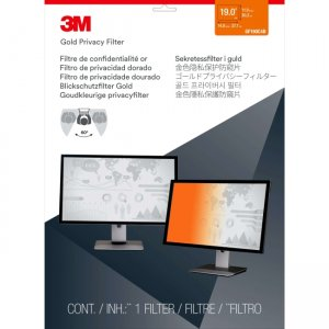 """3M Gold Privacy Filter for 19"""" Standard Monitor GF190C4B"""