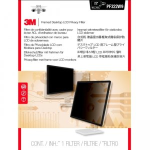 """3M Framed Privacy Filter for 22"""" Widescreen Monitor PF220W9F"""