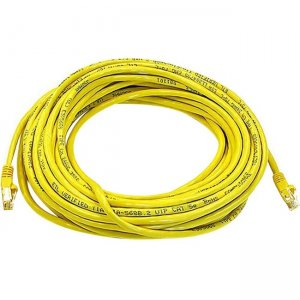 Monoprice Cat5e 24AWG UTP Ethernet Network Patch Cable, 50ft Yellow 2161