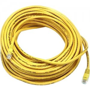 Monoprice Cat5e 24AWG UTP Ethernet Network Patch Cable, 75ft Yellow 5007