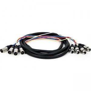 Monoprice 10ft 4-Channel XLR Male to XLR Female Snake Cable 8765