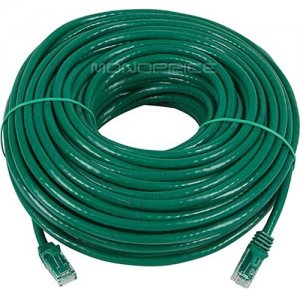 Monoprice FLEXboot Series Cat6 24AWG UTP Ethernet Network Patch Cable, 100ft Green 9859