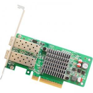 IO Crest 2 Port 10 Gigabit PCI-e x8 NIC Network Card Intel Chipset SY-PEX24049 SY-PEX