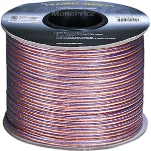 Monoprice Choice Series 14AWG Oxygen-Free Pure Bare Copper Speaker Wire, 300ft 2792