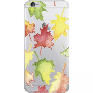 OTM iPhone 7/6/6s Hybrid Clear Phone Case, Falling Leaves OP-IP7ACG-A-70