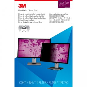 """3M High Clarity Privacy Filter for 23.6"""" Widescreen Monitor HC236W9B"""