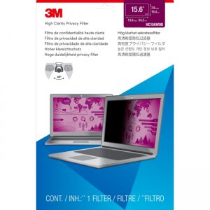 """3M High Clarity Privacy Filter for 15.6"""" Widescreen Laptop HC156W9B"""