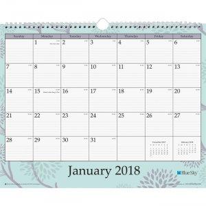 Blue Sky Rue du Flore Wall Calendar 101611 BLS101611