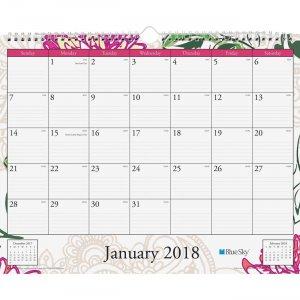 Blue Sky Dahlia Wall Calendar 101716 BLS101716