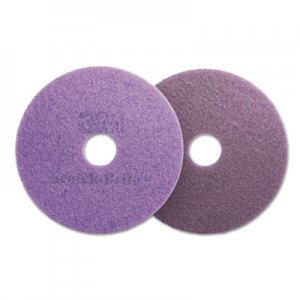 "Scotch-Brite Diamond Floor Pads, 16"" Diameter, Purple, 5/Carton MMM08743 08743"