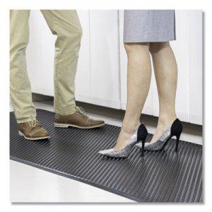 ES Robbins Feel Good Anti-Fatigue Floor Mat, Continuous Runner, 35 x 120, PVC, Black ESR184545 184545