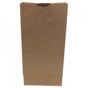 "Genpak Grocery Paper Bags, 6.31"" x 13.38"", Kraft, 500 Bags BAGGH10500 29810"