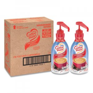 Coffee-mate Liquid Creamer Pump Bottle, Peppermint Mocha, 1.5 L, 2/Carton NES29600CT 29600