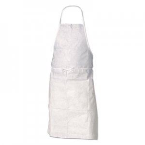 "KleenGuard A20 Apron, 28"" x 40"", White, One Size Fits All KCC36550 417-36550"