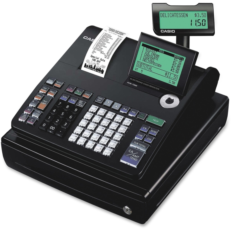 Casio 10-line Display Cash Register PCR-T500 CSOPCRT500