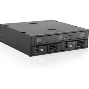 """iStarUSA Trayless 5.25"""" to Slim ODD and 2x 2.5"""" SATA 6 Gbps HDD SSD Hot-swap Rack T"""