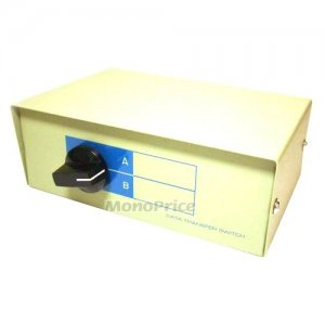 Monoprice 2 Way DB9 Data Switch Box, AB=Male 1344
