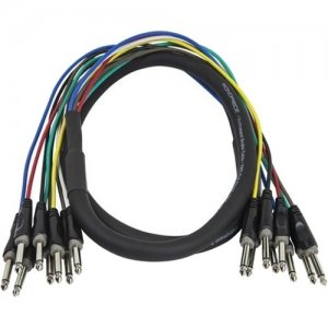 Monoprice 2 Meter (6ft) 8-Channel 1/4inch TS Male to 1/4inch TS Male Snake Cable 601492