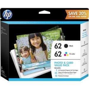 HP Photo and Card Value Pack-30 Sheet/4 x 6 in and 15 Sheet/5 x 7 in K3W67AN