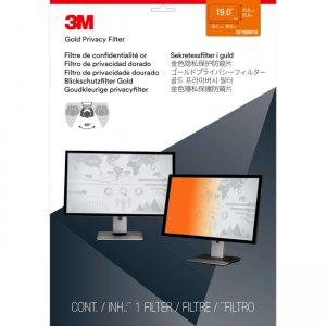 """3M Gold Privacy Filter for 19"""" Widescreen Monitor (16:10) GF190W1B"""