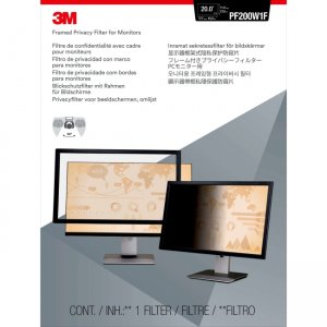 """3M Framed Privacy Filter for 20"""" Widescreen Monitor (16:10) PF200W1F"""