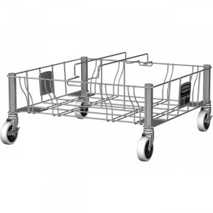 Rubbermaid Commercial Stainless Steel Double Dolly 1956191 RCP1956191