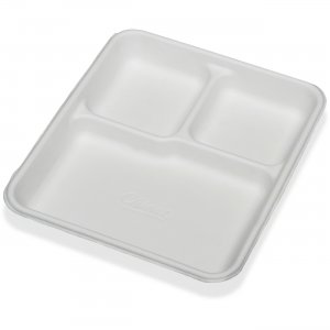 SKILCRAFT 3 Compartment Disposable Plates 7350009269233 NSN9269233