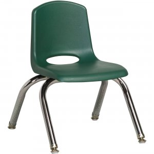 """Early Childhood Resources 10"""" Stack Chair, Chrome Legs ELR-0192-HGG ECR0192HGG"""