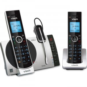 Vtech 2 Handset Connect to Cell Answering System with Cordless Headset DS67713 DS6771-3