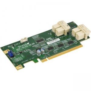 Supermicro Low Profile 12.8 Gb/s Quad-Port NVMe Internal Host Bus Adapter AOC-SLG3-4E4R-O