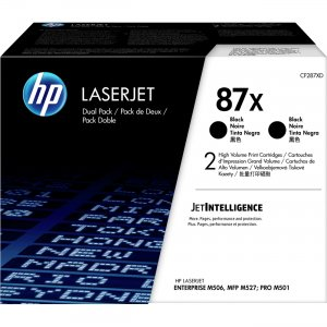 HP 2-Pack High Yield Black Original LaserJet Toner Cartridges CF287XD HEWCF287XD 87X