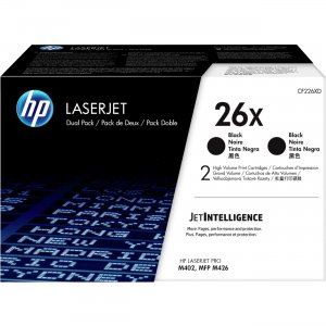 HP 2-Pack High Yield Black Original LaserJet Toner Cartridges CF226XD HEWCF226XD 26X